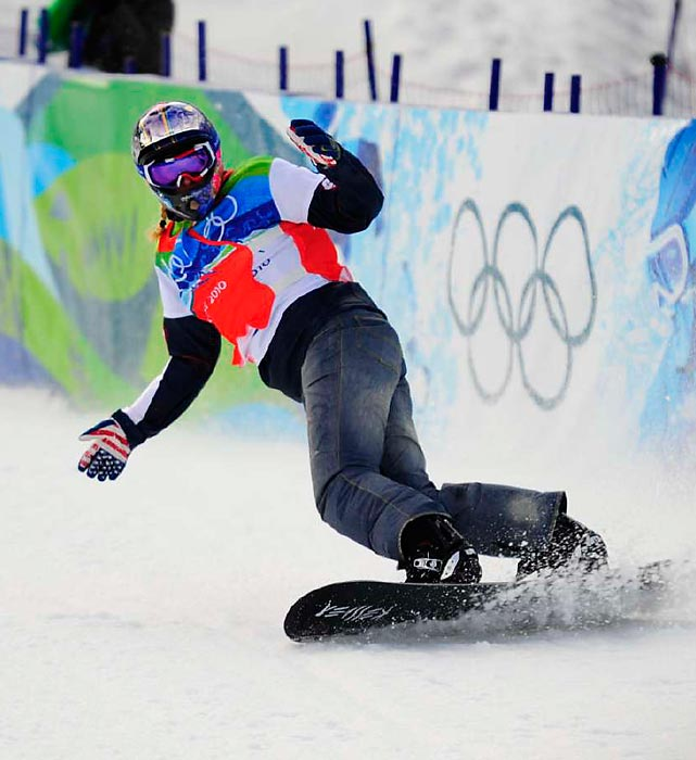 Could the third time be the charm for Lindsey Jacobellis? In the 2006 Olympics, she had the snowboard cross event in the bag, until she showboated and fell just before the finish line, and in 2010 she crashed out during the semifinal run.