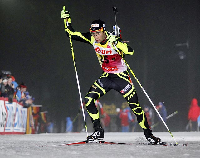 Martin Fourcade dominated the 2012 biathlon world championships, winning gold medals in three events.