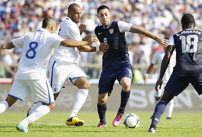 Clint Dempsey scored in the first half to give the U.S. a 1-0 lead, but Honduras equalized.