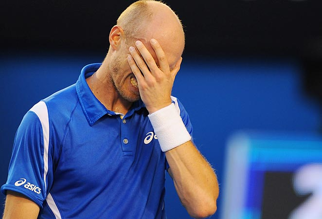 Nikolay Davydenko lost in the second round of the Australian Open to Roger Federer.