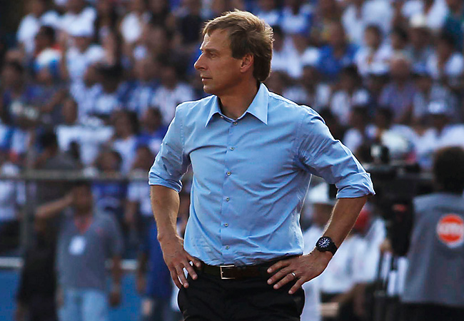 Jurgen Klinsmann saw the U.S. suffer its first loss ever in a World Cup qualifier at Honduras.