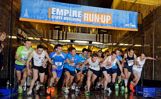 About 700 people from around the world raced up the 86 flights of stairs at the Empire State Building.