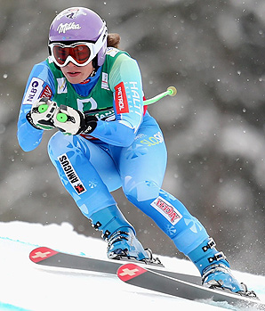 Tina Maze eyes a second gold medal at the world championships in the super-combined event.