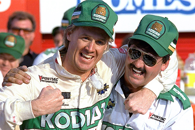 Rusty Wallace (left), pictured with crew chief Barry Dodson, will be inducted into NASCAR's Hall of Fame.
