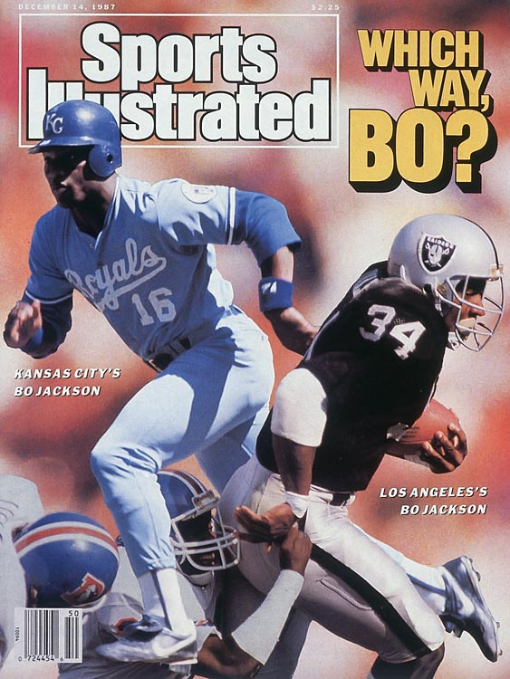 "In 1987, Bo Jackson became the first MLB and NFL player since the 1960s when the Heisman Trophy winner played for the Oakland Raiders and the Kansas City Royals. The dual-sport experiment worked well as Jackson became the first athlete to be named an All-Star in both sports. Jackson's versatile success spawn the famous Nike ad campaign ""Bo Knows,"" which featured Jackson trying his hand at a variety of other sports."