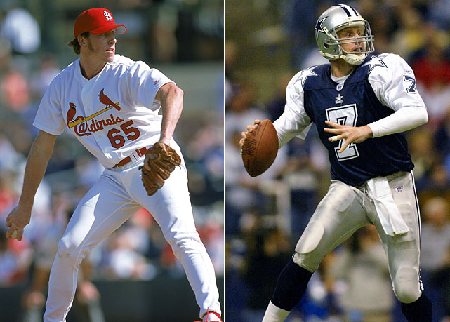 The former Stanford Cardinal dual-sport athlete first pursued his baseball dreams and reached the majors in 2001 with the St. Louis Cardinals. It was a short-lived career in the majors as he gave up 11 earned runs in just four innings over three relief appearances. After switching back to quarterback, Hutchinson started nine games for the Dallas Cowboys in 2002, throwing seven touchdowns and eight interceptions. The Cowboys released Hutchinson in 2004, but he signed with the Chicago Bears, starting five games after Rex Grossman suffered an ankle injury.