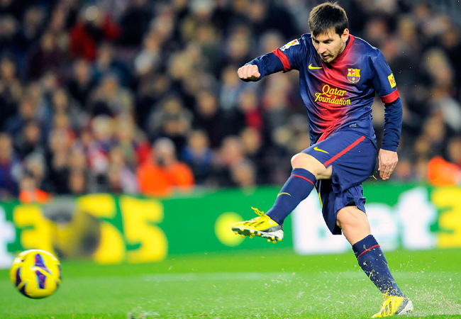 Lionel Messi and Barcelona lead La Liga and are a Champions League favorite.