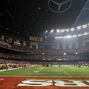 The Super Bowl was delayed for 34 minutes by an unexpected loss of power to the SuperDome in the third quarter.