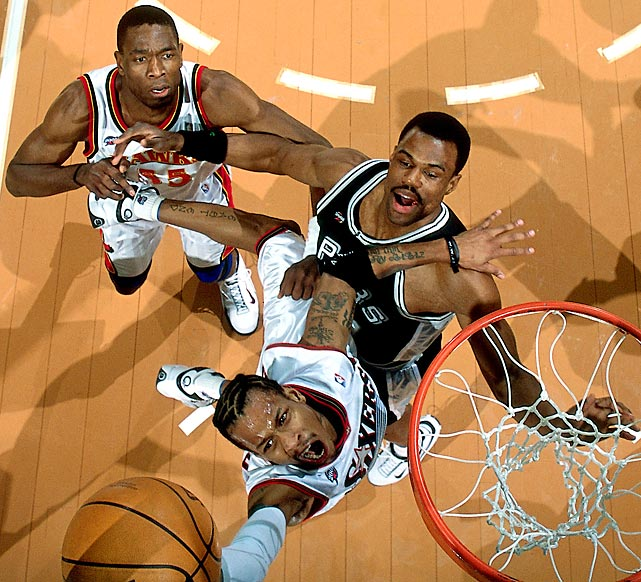 The East trailed 95-74 with nine minutes remaining. Then Allen Iverson turned it on. The 76ers guard scored 15 of his 25 points in those final nine minutes to spark a ferocious comeback. Stephon Marbury capped the climb with two three-pointers in the final 53 seconds, including the game-winner with 28 seconds remaining. The East won the game 111-110, and Iverson earned the first of his two All-Star Game MVP awards.
