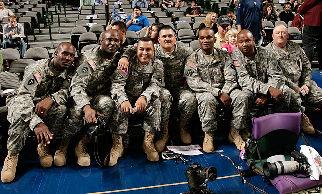 The Dallas Mavericks hosted Seats For Soldiers at a 2007 game against the Utah Jazz.