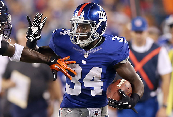 After rushing 71 times in 2012, David Wilson will see a bigger workload with Ahmad Bradshaw gone.