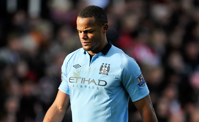 Vincent Kompany suffered a calf injury during an FA Cup match against Stoke City on Jan. 26.