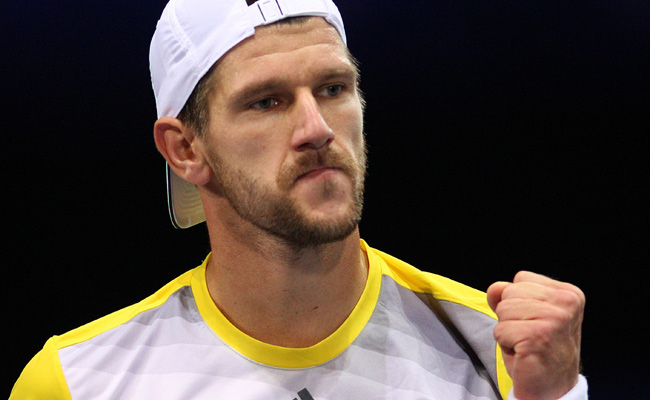 Jurgen Melzer, who won 33 of 36 points on first serve, advanced to his 12th career final.