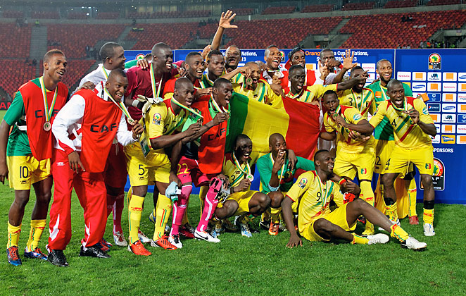 Mali shows off its hardware after besting Ghana 3-1 for third place in the African Cup of Nations.