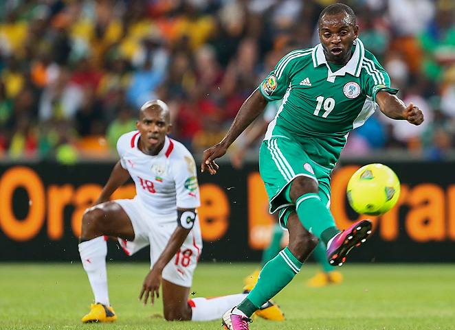 Nigeria's Sunday Mba craftily scored the game's only goal after juking Burkina Faso's Charles Kabore.