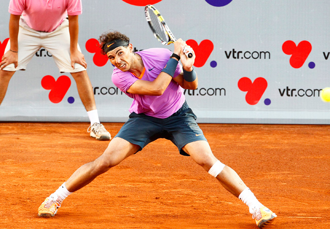 In his first tournament in seven months, Rafael Nadal lost in the VTR Open finals.
