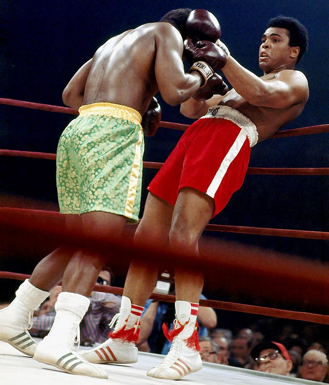 On the night of March 8, 1971, the eyes of the world were on a square patch of white canvas in the center of Madison Square Garden. There, Ali and Joe Frazier met in what was billed at the time simply as The Fight, but has come to be known, justifiably, as the Fight of the Century. For 15 rounds the two undefeated heavyweights battled at a furious pace, with each man sustaining tremendous punishment. In the end Frazier prevailed, dropping Ali in the final round with a tremendous left hook to seal a unanimous decision and hand The Greatest his first loss in 32 professional fights. Click here for Neil Leifer's fine art photography.
