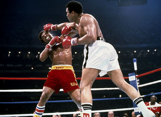Having upset Ali to take the heavyweight title in February 1978 in only his eighth pro fight, Spinks was on top of the world at age 25. His reign didn't last long. In a rematch seven months later, Ali was in much better shape and won the fight by unanimous decision, becoming the first three-time heavyweight champion. It would be the last victory of his career. Click here for Neil Leifer's fine art photography.