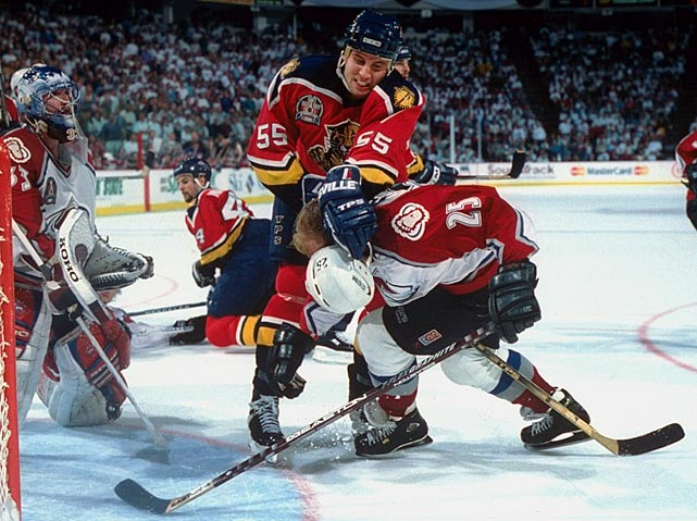 Nicknamed JovoCop, the big, bruising, workhorse blueliner who also packed some offensive punch was taken ahead of defenseman Oleg Tverdovsky (Anaheim). At 19, Jovanovski earned 1995-96 NHL All-Rookie first team honors while the Panthers made a surprise run to the Stanley Cup Final. In January 1999, he was traded to the Canucks in the deal that brought sniper Pavel Bure to Florida. After six more seasons with Vancouver (for whom he topped 40 points three times), and five with Phoenix (career-high 51 points in 2007-08), the five-time All-Star returned to Florida as a free agent in July 2011. He's since topped the 1,000-game mark, and was named the Panthers' captain for the 2013 season.