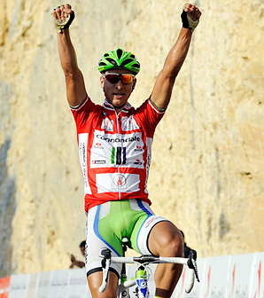Slovakia's Peter Sagan holds a 16-second lead over Tony Gallopin and a 26-second lead over Greg Van Avermaet.