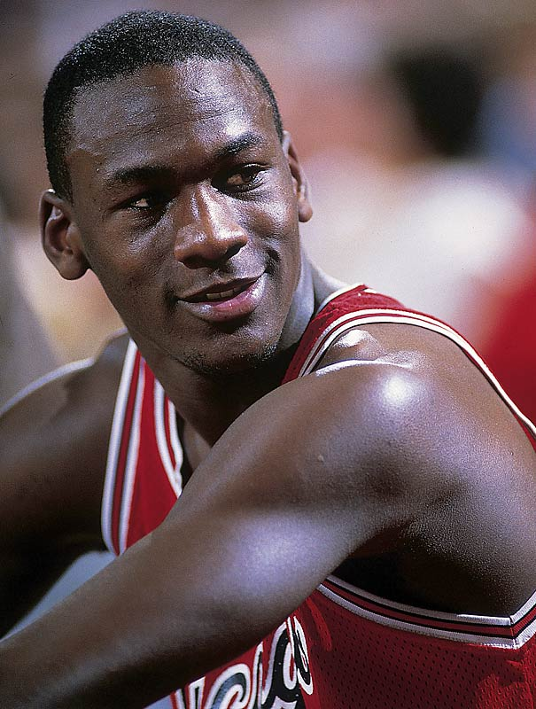 Jordan had no trouble adjusting from college to the NBA as a rookie, scoring 28.2 points per game with 6.5 rebounds and 5.9 assists en route to being named Rookie of the Year. The Bulls made an 11-game improvement from the year before, reaching the playoffs but losing to the Milwaukee Bucks in the first round.