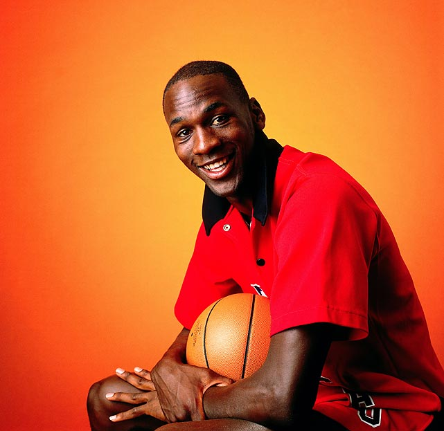 Jordan poses for a portrait in 1986. After missing most of the 1985-86 season with a foot injury, Jordan returned to set the NBA record for points in a playoff game with 63 against the Boston Celtics.