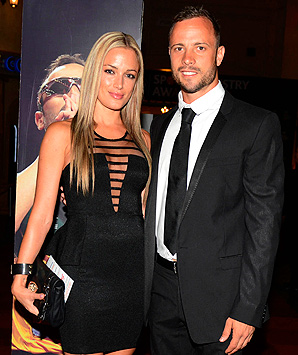 Reeva Steenkamp, pictured here with Oscar Pistorius, had become 'a celebrity in her own right' according to her publicist.