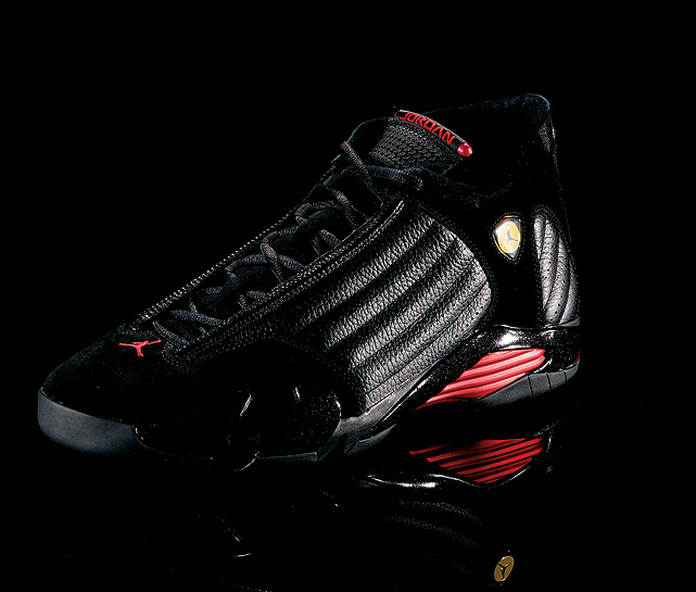 The aerodynamic lines and mesh vents of the Air Jordan XIV drew inspiration from Jordan's Ferrari.