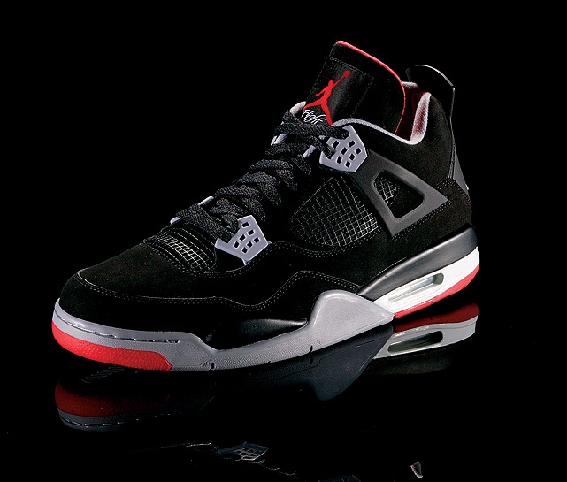"The Air Jordan IV was the first Jordan shoe released on the global market, where it became an international bestseller. Jordan had the shoes on for ""The Shot"" in Game 5 of the first round of the Eastern Conference playoffs."