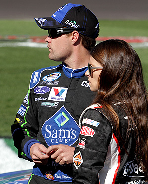 Ricky Stenhouse Jr. and Danica Patrick dutifully answered questions about their relationship at NASCAR Media Day.