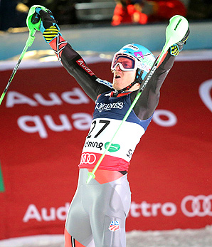 U.S. skier Ted Ligety is one gold medal away from becoming the first man to win three or more gold medals since Jean-Claude Killy won four golds in 1968.