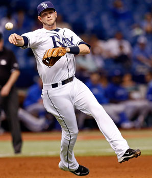Reid Brignac played just 16 games for the Rays last season, hitting .095.
