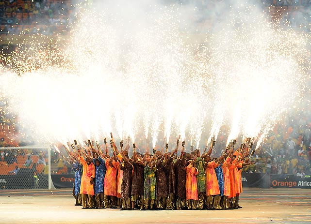 And so we conclude this week's gallery with a bang, just like the one at the closing ceremony at National Stadium in Soweto, South Africa.