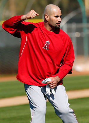 Albert Pujols had surgery in October on his right knee but expects to be ready for Opening Day.