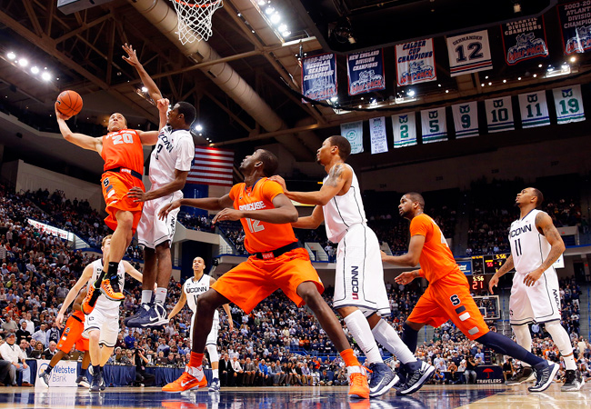 The UConn-Syracuse Big East rivalry ended Wednesday night after 33 years.