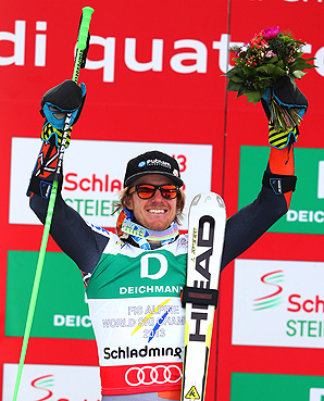 U.S.' Ted Ligety becomes the first man to win three gold medals since Jean-Claude Killy in 1968, who won four golds.
