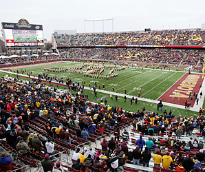 The University of Minnesota's TCF Bank Stadium will be the Vikings' home in 2014 and 2015 while the club has a new stadium built.