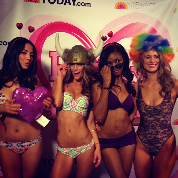@si_swimsuit fun today in the photo booth @nbc @todayshow @iamjessicagomes @juliehenderson @adaora