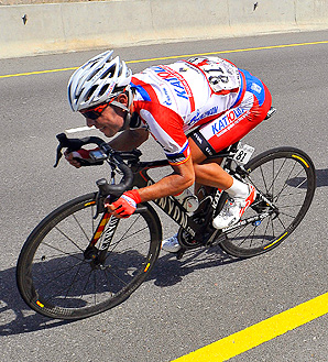 Katusha's Joaquim Rodriguez rides during the fifth stage of the Tour of Oman.