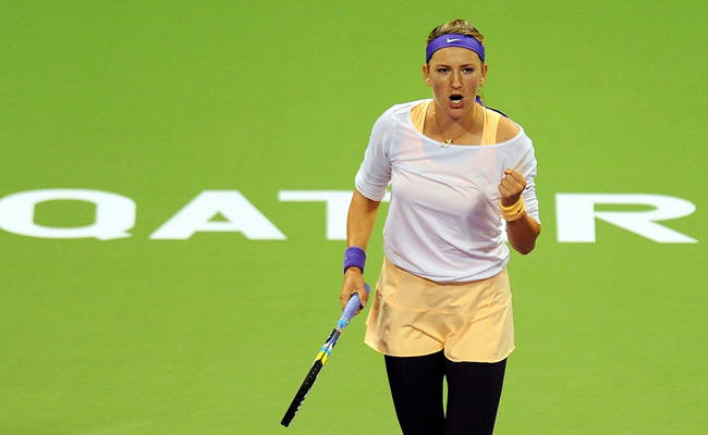 Victoria Azarenka beat Serena Williams in the final of the Qatar Open on Sunday.