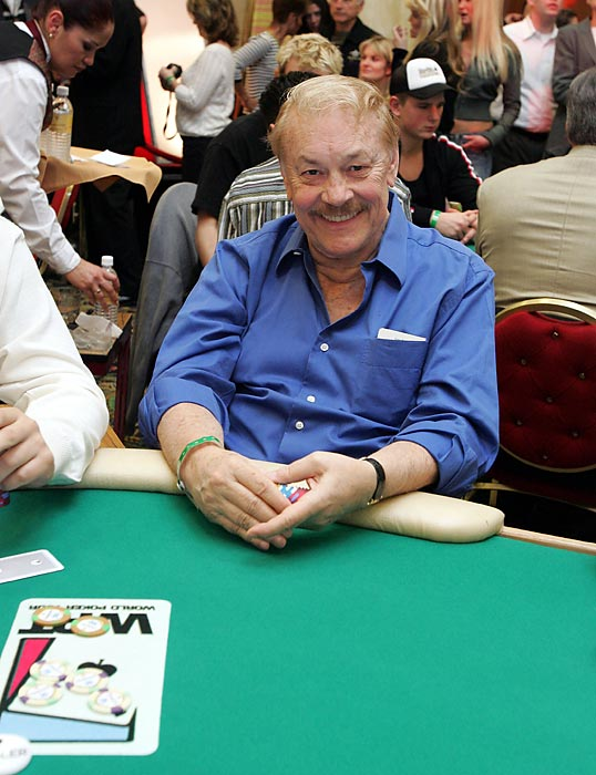 Buss sits at the table at the World Poker Tour Invitational at the Commerce Casino in Los Angeles. An avid poker player, Buss regularly participated in high-stakes tournaments.