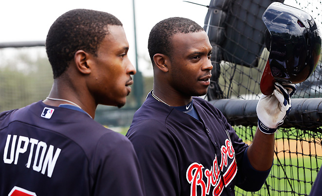 B.J. Upton (left) should get a boost playing in Atlanta; younger brother Justin might not be as lucky.