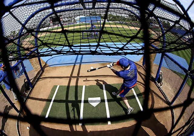 New York Mets first baseman Ike Davis takes batting practice during spring training in Port St. Lucie, Fla. On Feb. 16. Spring training games begin Feb. 22.