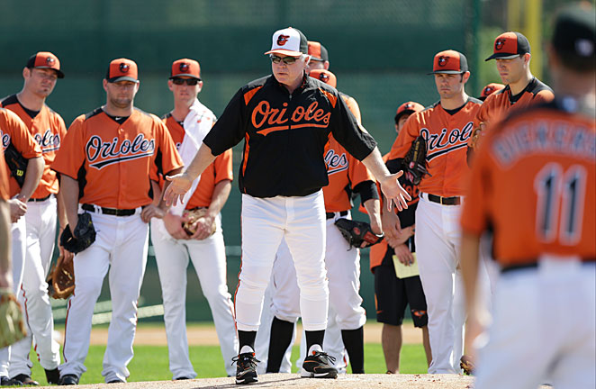 Buck Showalter's team won't sneak up on anyone this year after winning one of the AL wild cards in 2012.