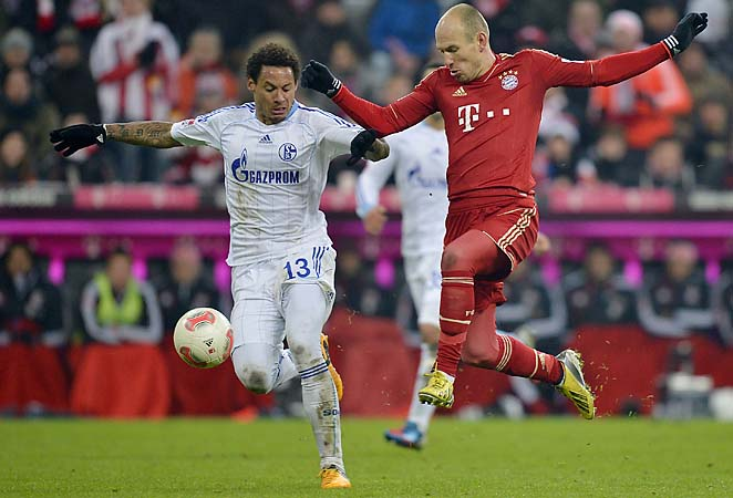 Jermaine Jones (left) and Schalke are one of three German clubs alive in the Champions League.