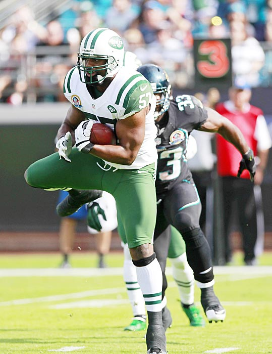 With the Jets looking to be over the projected 2013 salary cap, linebacker Bart Scott was cut by New York on Feb. 19. Scott's 36 total tackles were significantly fewer than the 60 tackles the 32-year-old had averaged over the prior three seasons.