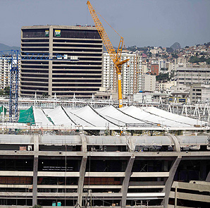 Maracana Stadium in Rio de Janeiro undergoes construction ahead of the 2014 World Cup and the 2016 Olympic Games.