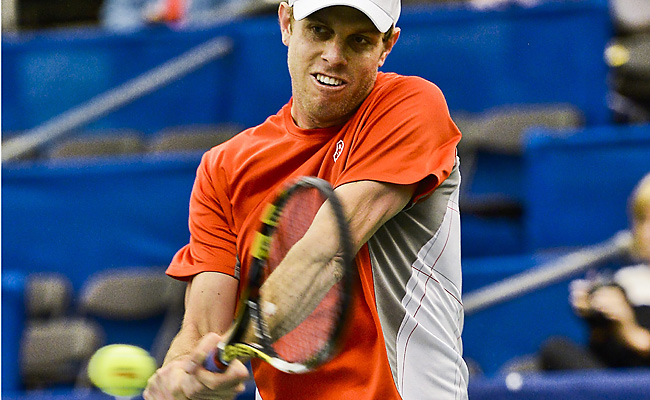 Sam Querrey defeated Alejandro Falla of Columbia 6-3, 6-3 to move into the second round.