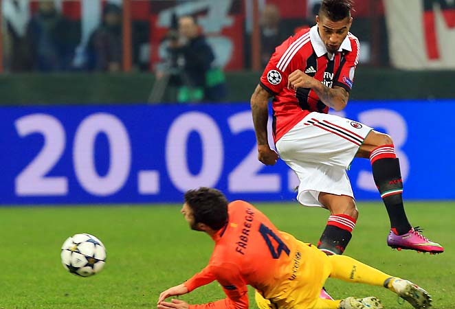 Kevin-Prince Boateng gave AC Milan an edge it needed going back to Barcelona in March.