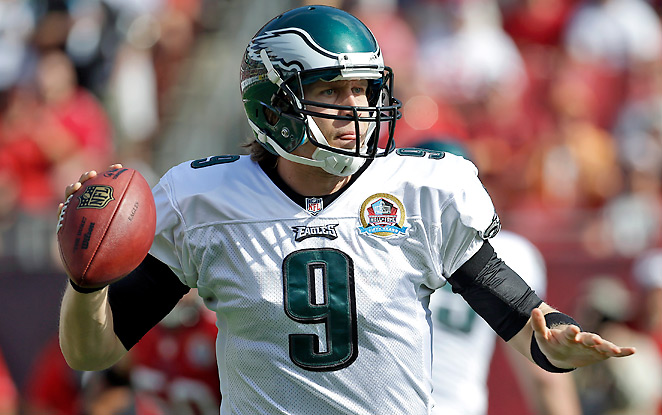 In six starts as a rookie, Nick Foles went 1-5, with 1,480 yards, five touchdowns and four picks.